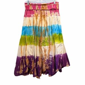 Solitaire tie dye maxi skirt large